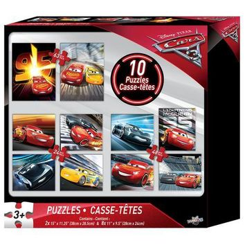 Disney Pixar Cars Movie 3 - Ten Puzzle Set