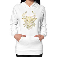 Taurus Gold Hoodie (on woman)