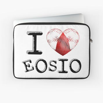 'I love EOSIO' Laptop Sleeve by jiggabola