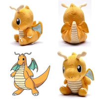 "NEW Pokemon Plush Toy Dragonite 7"" Cute Collectible Soft Stuffed Animal Doll (Color: Yellow light) [8834057996]"