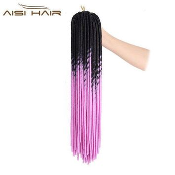 ESB1ON I's a wig 18' Low Temperature Fiber Crochet 20 Strands/Pack Synthetic Mambo Dreadlocks Braiding Hair Extensions for Black Women