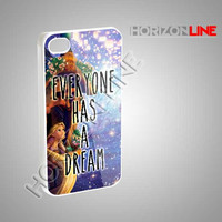 Everyone Has A Dream Disney Tangled Quote - iPhone 4/4s/5 Case - Samsung Galaxy S3/S4 Case - Black or White #iPhone #iPhone4/4S #iPhone5
