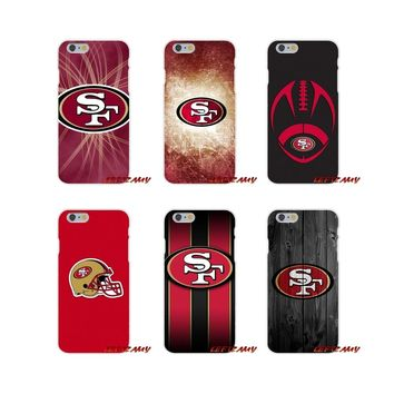 For Sony Xperia Z Z1 Z2 Z3 Z4 Z5 compact M2 M4 M5 E3 T3 XA Aqua SF San Francisco 49ers USA Sprot Logo Soft Phone Case Silicone