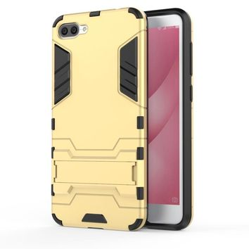 "For Asus Zenfone 4 Max ZC520KL 5.2"" Case Silicone Phone Case Shockproof Robot Armor Hybrid Rubber Hard Back Cover 4Max ZC520KL"