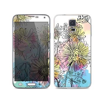 The Colorful WaterColor Floral Skin For the Samsung Galaxy S5