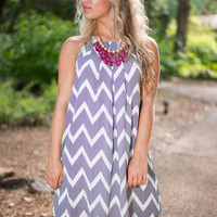 Chevron My Way Home Dress, Black-Ivory