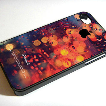 raindrop in the night - iPhone 4 Case ,iPhone 5 case,samsung galaxy s3 and Samsung galaxy s4 Hard Plastic Case