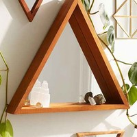Pyramid Ledge Mirror - Brown One
