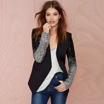 Black & Silver Sequins Jacket