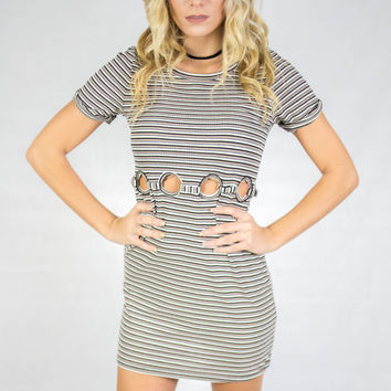 Best Of My Love Olive Short Sleeve Dress