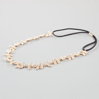 Full Tilt Metal Leaves Headband Gold One Size For Women 24357262101
