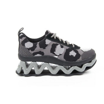 Multi Color 36 EUR - 6 US Marc By Marc Jacobs Womens Sneaker M9000501 CHEETAH INTARSI 032 ELEPHANT-GR