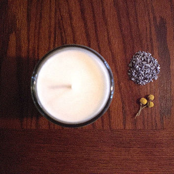 Lavender Chamomile Soy Candle by aromacandles - Calming and Relaxing.  Made with pure essential oils