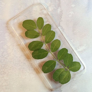 Leaning Palm Iphone 6 Case - Dried and Pressed Nordic Wildflowers - Bladder Senna - Unique Design