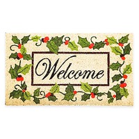 Holly Welcome 16-Inch x 28-Inch Door Mat