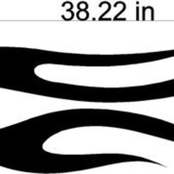 Racing Flames Auto Truck Boat Car Stickers Graphics Decals Side Sets EZ137