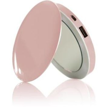 Sanho HyperJuice Pearl Compact Mirror with Rechargeable Battery Pack - Rose Gold - Walmart.com