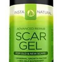 InstaNatural Scar Gel Cream - Diminishes Old & New Scars - More Effective Removal than Scar Oil - With Epidermal Growth Factor, Sea Kelp Bioferment & Astaxanthin - For Soft Skin & Even Tone - 1 OZ