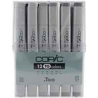 Copic Markers 12-Piece Toner Gray Set