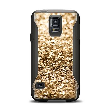 The Gold Glimmer V2 Samsung Galaxy S5 Otterbox Commuter Case Skin Set