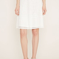 Contemporary Lace A-Line Skirt
