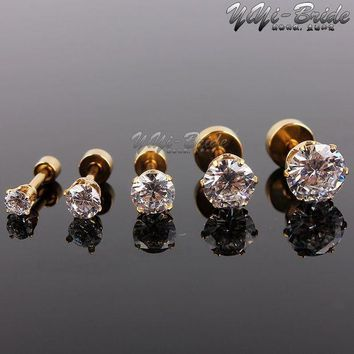 5pcs 3 7mm Zircon Ear Piercing Unique Design Gold Stainless Steel Twist Nose Lip Ring Nose Stud Body Piercing Jewelry For Women