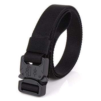 Male Tactical Belt Head Buckle  Wide Canvas Belts For Men Nylon Belts with Alloy Steel Buckle High Quality