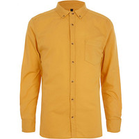 River Island MensMustard yellow Oxford shirt