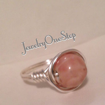 Rose ring size 8 1/2, wire wrap ring,sterling silver ring,silver plated
