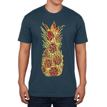 PEAPGQ9 Pineapple Pizza Mens T Shirt