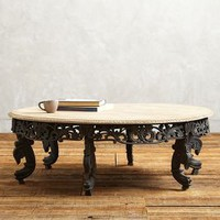 Villa Coffee Table by Anthropologie Grey
