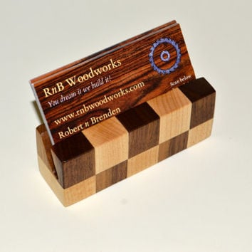 Fantastic Multiple Wood Business Card Holder From Walnut - Magowood