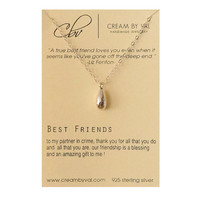 Best Friend Necklace-925 Silver Teardrop Necklace Celebrate Friendship Gift Ideas For BFF Partner In Crime Forever Best Friends Amazing Gift