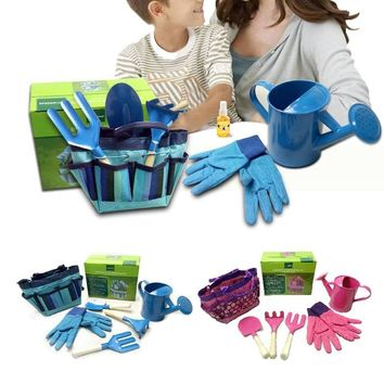 Little Gardener Tool Set With Bag Kids Children Gardening Boys Girls Gift Toys New
