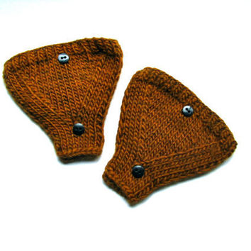 Bicycle Helmet Ear Warmers Golden Brown With by GretaHoneycutt