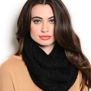*Oversized Chunky Cable Knit Infinity Scarf- 6 Color Options