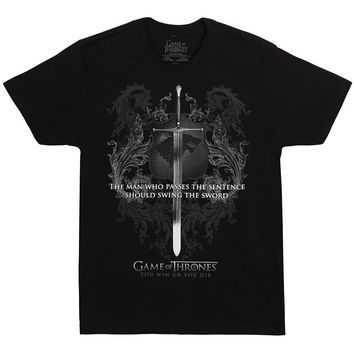 Game Of Thrones Swing The Sword Adult T-shirt