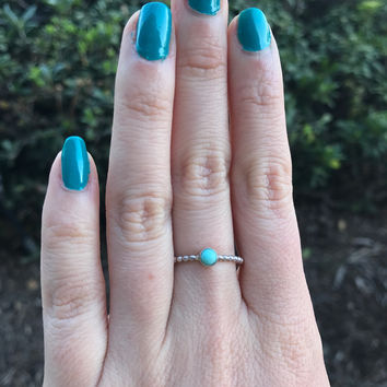Turquoise Stacking Ring - Ready to Ship - Size 7