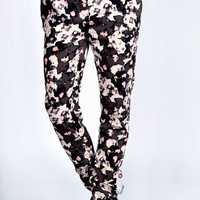 Deana Floral Print Luxe Jogger