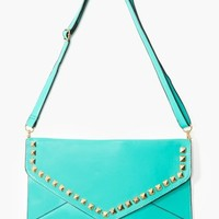 Studded Envelope Clutch - Mint