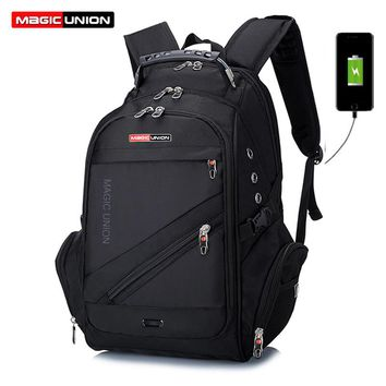 MAGIC UNION Waterproof Backpacks with Usb Charging Port