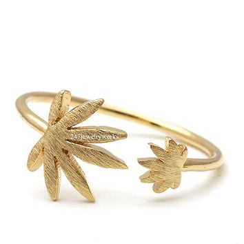 marijuana, marijuana ring, marijuana leaf ring, marijuana leaf, leaf ring, adjustable ring, unique ring, stretch ring, woman ring, men ring