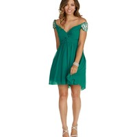 Melanie-teal Homecoming Dress