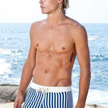 Sauvage Swimwear Royal Stripe Swim Trunks