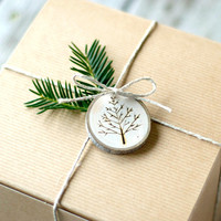 Tree Branch Christmas Ornaments - Wood Burned Trees - Rustic, Natural and Eco Friendly  - As Seen In Country Living