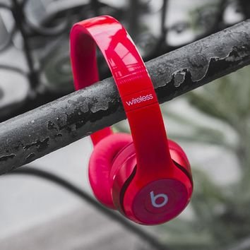 Beats Solo 3 Regardless of age Wireless Magic Sound Bluetooth Wireless Hands Headset MP3 Music Headphone With Microphone Line-in Socket TF Card Slot For Couple Red