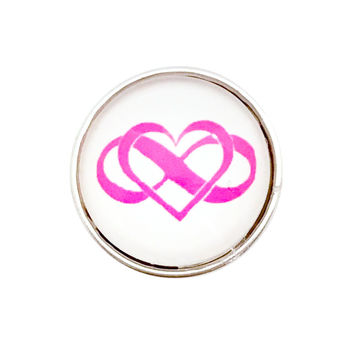 Infinity Heart Snaps 20mm for Snap Jewelry