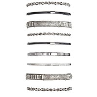 Abstract Etched Bangle Set