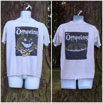 The OFFSPRING 1994 T-shirt Vintage/ Original 90's Donovan Artwork SMASH Album Promo Tshirt/ Punk Rock Dexter Holland Brockum USA Made Large