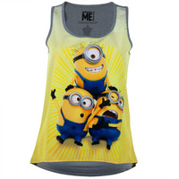 Despicable Me - Cute Minions Juniors Tank Top